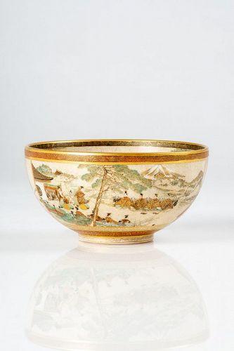 Seikozan - A Japanese Satsuma tea bowl