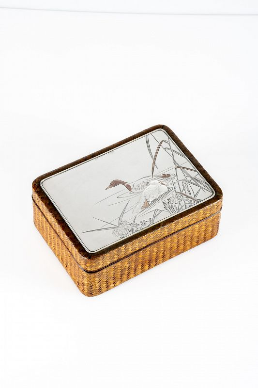 A Japanese maple and bamboo box