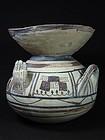Daunian Olla with Hands, Subgeometric II B, 475-425 BC