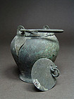 Fine Etruscan bronze situla, 6th to 5th century BC