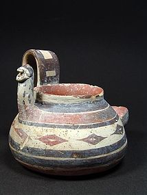 Daunian sieve vessel with female protome, 550-400 BC