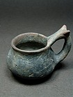 Impasto ware kyathos, Etruscan-Campanian 8th/7th century BC