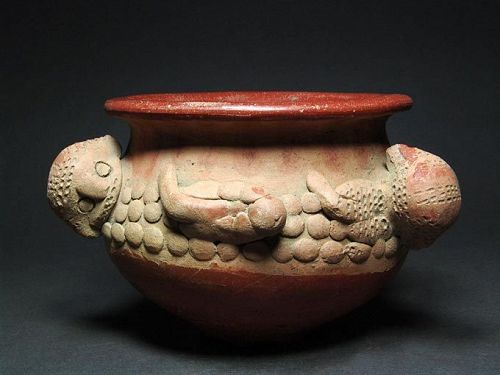 Costa Rican Bowl with Monkeys, el Bosque Ceramic, 1st-5th Century AD