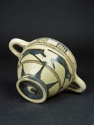 Late Proto-Corinthian Skyphos, ex Herbert A. Cahn, 650-625 BC