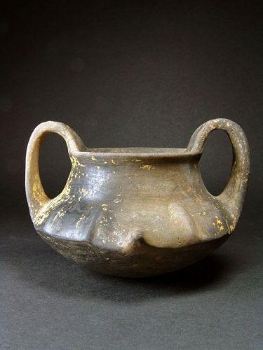 Etruscan Impasto Kantharos, ex Elsa Bloch-Diener, 750-650 BC