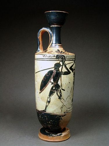 Attic White-ground Lekythos by the Athena Painter, 500-480 BC