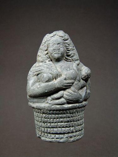 Egyptian Bottle with Nursing Besit, Published 1921, 2nd-1st Century BC