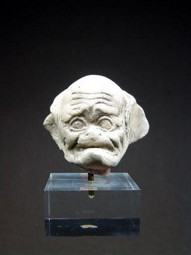 Western Greek Terracotta Head of an Old Man, 3rd-2nd century BC