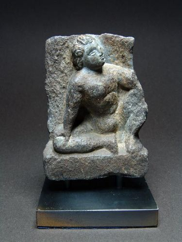 Gandhara Schist Relief with Sitting Youth, 2nd/3rd Century AD
