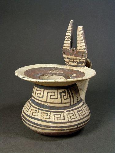 Daunian Bichrome Jug, Subgeometric II, 500-450 BC