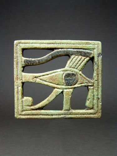 Egyptian Openwork Plaque with Udjat Eye, TIP, 1069-664 BC