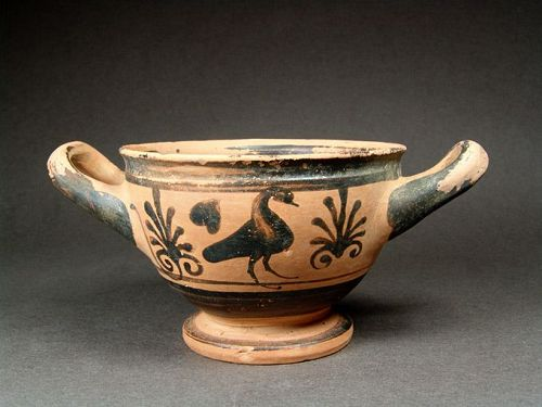 Greek Boeotian Skyphos with Birds, around 500 BC