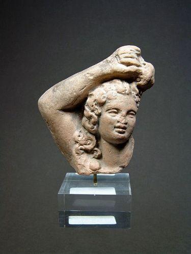 Greek Hellenistic Eros Head, 2nd Century BC