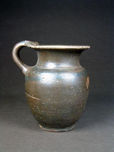 Apulian Silvery-glazed Oinochoe/Jug, 300-280 BC