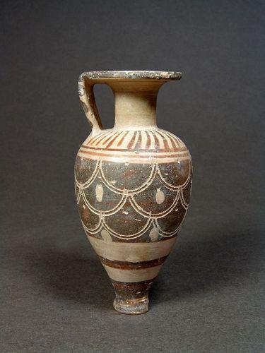 Etrusco-Corinthian Pointed Aryballos, 620-580 BC