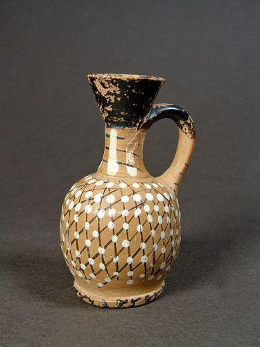 Greek Attic Net-Lekythos, Bulas Group, 380-350 BC