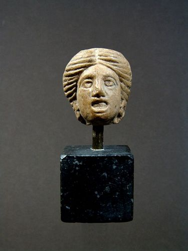 Western Greek Theatre Mask of a Woman, 3rd Century BC