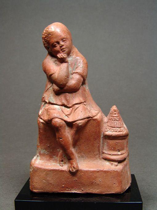 Egyptian Lantern-holder Slave Boy, Published 1921, 2nd-1st Century BC