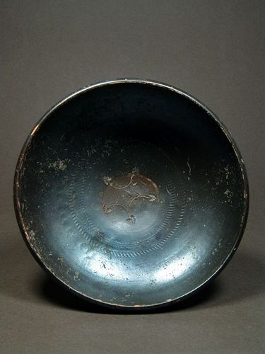 Black-Glazed Bowl (Poculum), North Campanian, early 3rd Century BC