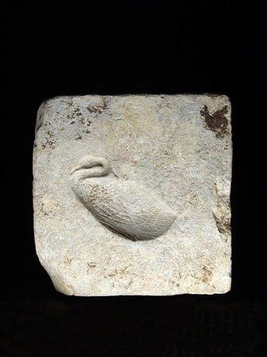 Limestone Mold for a Benu-Bird Plaque, Late Period, 664-332 BC
