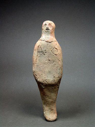 Egyptian Terracotta Shabti, Late New Kingdom, ca. 1200-1075 BC