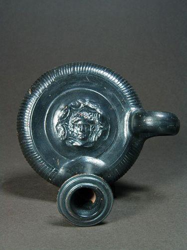 Greek Apulian Guttus with Medusa Head, 325-300 BC