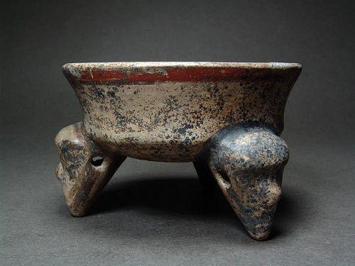 Costa Rican Tripod, Papagayo Polychrome, ca. 1000-1350 AD