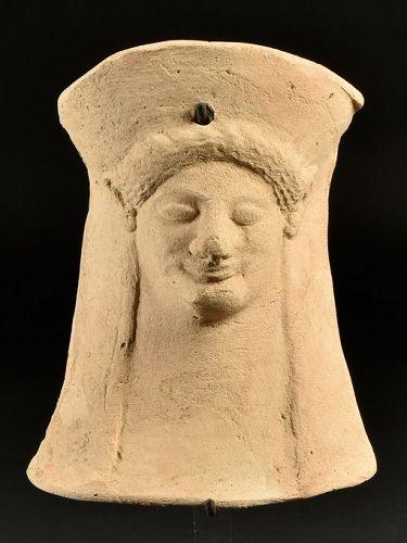 Western Greek Votive Head, Ex Cahn, 525-500 BC