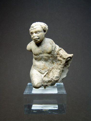 Greek Terracotta Figure of an African, 2nd-1st Century BC