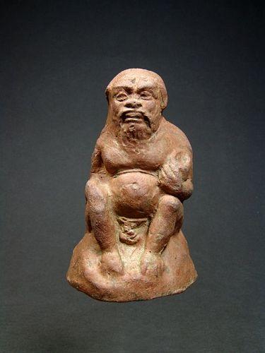 Boeotian Terracotta Statuette of Silenus, around 400 BC