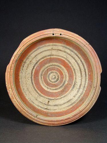 Daunian Plate with Geometric Design, around 350 BC