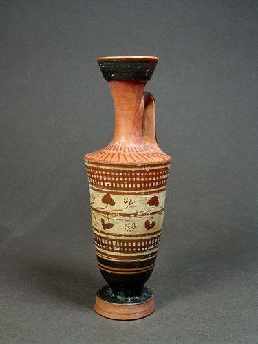 Attic White Ground Lekythos, Beldam Workshop, 450-425 BC