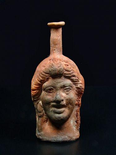 Roman Head-shaped Flask, 2nd Century AD