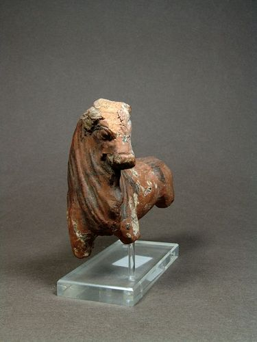 Greek South Italian Terracotta Bull, early Hellenistic 4th-3rd Cent BC