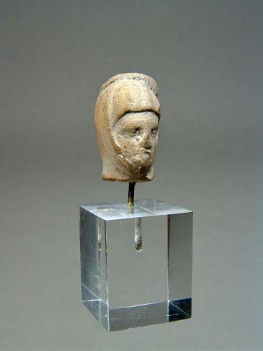 Greek Terracotta Head of a Woman, 3rd-2nd Century BC