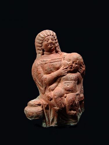 Egyptian Mother with Teething Child, Published 1921, 200-250 AD