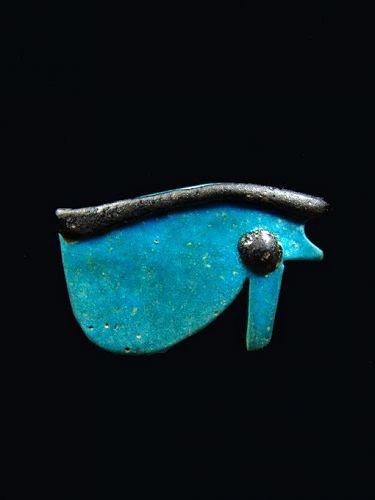 Egyptian Udjat Eye Amulet, Third Intermediate Period, 1069-664 BC