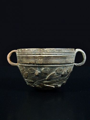 Hellenistic Megarian Bowl with Floral Design, Asia Minor, 1st Cent. BC