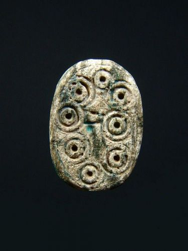 Egyptian Scarab with Concentric Circles, SIP, 1630-1522 BC