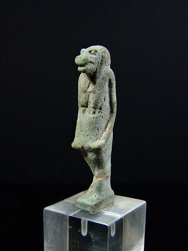 Egyptian Amulet of Taweret, 26th Dynasty, 664-525 BC