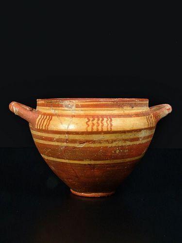Etruscan Skyphos, Italo Geometric, 700-650 BC