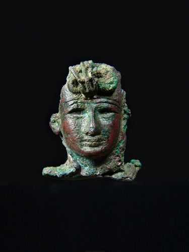 Egyptian Bronze Head of a King, 26th-30th Dynasty, 664-332 BC