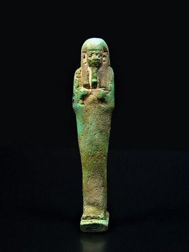 Egyptian Faience Shabti, Late Period, 664-332 BC