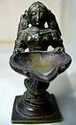 Indian Deep-Lakshmi Hindu Bronze Deity Lamp