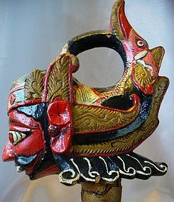 Wayang Golek Vintage Puppet Head