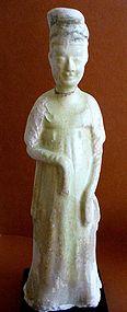 Chinese Sui Dynasty Straw Glazed Pottery Figure