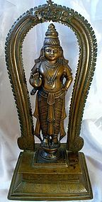 Large Indian Bronze of a Hindu Deity