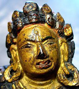 18/19th Wooden Tibetan Statue of Naro Dakini