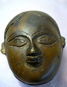 Small Indian Bronze Cosmetic Box