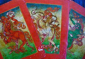 3 Fine Tibetan Tsakli